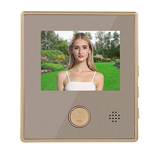 Lazmin112 Timbre con Video, videoportero con visión Nocturna de 3 Pulgadas, detección de Movimiento, Timbre, Visor de Puerta, Sistema de Acceso al hogar, Soporte para detección de Movimiento PIR