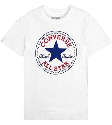 Converse Baby-Jungen Chuck Patch Tee Trainingsanzug, weiß, 10-12 Jahre