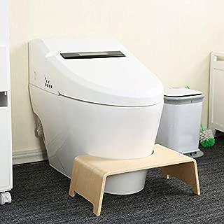 オフィス用品 ポータブルスツールトイレスツールステップフットスツールパイルリリーフエイド安全スツール オフィス用品 (色 : Wood Color)