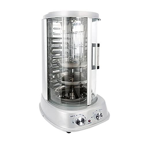 HFFSGS Rotisserie Toaster Horno Grill para Uso en el hogar - Countertop Kebab Cocina eléctrica Rotación de la máquina para Hornear 800W