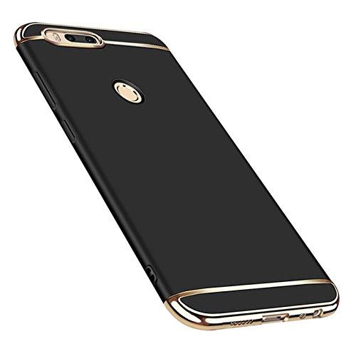 Caler Funda Compatible para Xiaomi Mi A1 / 5X Funda, Carcasa rígida Antigolpes PC Ultra Slim 3 en 1 antigolpes Carcasa rígida Bumper Cover (Negro)