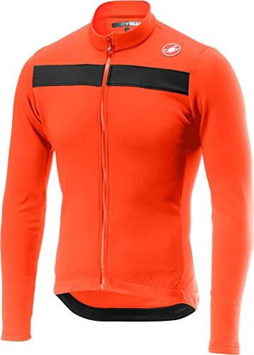 CASTELLI 4518511-034 Puro 3 Jersey FZ T-Shirt Uomo Orange/Black Reflex S