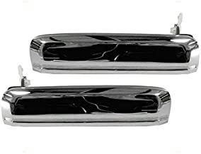Outside Outer Chrome Door Handles Driver and Passenger Replacements for Nissan Pickup Truck Pathfinder 8060701A00 8060601A00