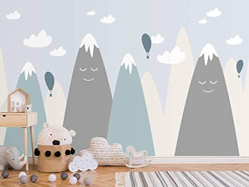 Oedim Papel Pintado Infantil para Pared Montañas | Mural | Papel Pintado Infantil |350 x 250 cm | Decoración comedores, Salones, Habitaciones