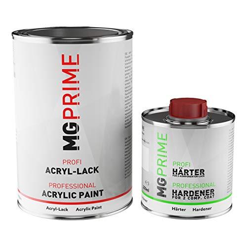 MG PRIME RAL 3002 Karminrot glänzend Acryl-Lack 1,5 Liter / 1500 ml Dose inkl. Härter
