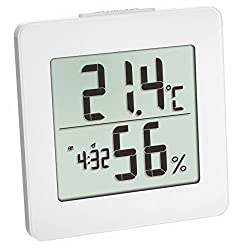 TFA Dostmann digital thermo-hygrometer (switchable hourly signal) white