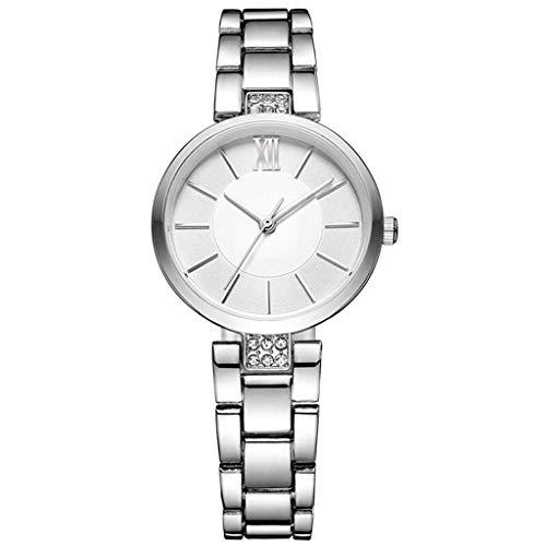 Reloj de Cuarzo para Mujer, báscula estéreo Casual Coreana, Superficie de Espejo Decorativo de Cristal de Diamante Creativo 0090 (Color : B)