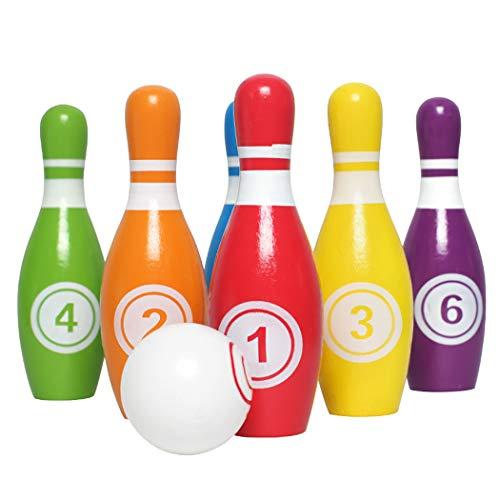 ZOYLINK Bowling Set Holz Cartoon Kreative Indoor Kid Früherziehung Spielzeug Bowling Spiele