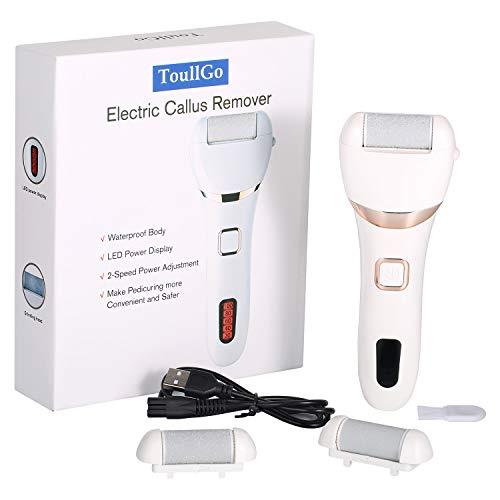 Épilateur de callosités électrique, pédicure électrique, soins des pieds et râpe de corne, rechargeable par...