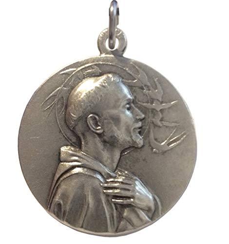 Medaille des Heiligen Franziskus von Assisi - Hochrelief Gemacht - Große Größe - Big Size - 32mm