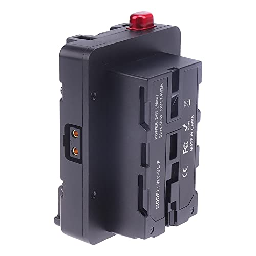 Baoblaze Distribuidor de Potencia de Soporte de Batería Compact V-Mount para Cámara de Video Cinema DSLR