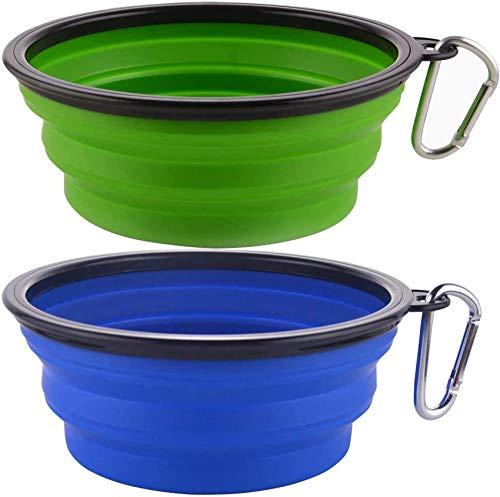 Plegable Viajes Silicona Gatos Perros Bowl Portable Pet Food Cuenco de Agua,...