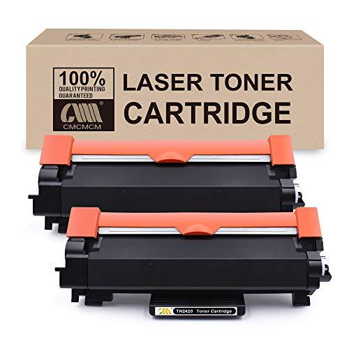 CMCMCM 2PK Cartucho de tóner Compatible para Brother TN-2420 TN 2420 Compatible con Brother MFC-L2710DW HL-L2350DW DCP-L2530DW HL-L2370DN HL-L2375DW DCP-L2510D MFC-L2710DN MFC-L2730DW HL-L2310D