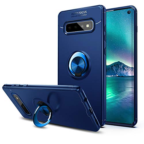 Coolden Samsung Galaxy S10 Hülle,Premium Ultra Dünn 360 Grad drehbarer Ring Ständer Handyhülle Weich TPU Bumper Outdoor Stoßfest Schutzhülle für Samsung S10 6.1