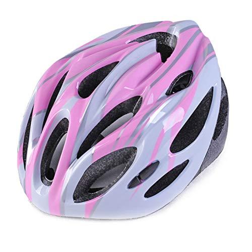 CZCJD Casque De Vélo180G Ultralight Imitate Carbon Road Vélo Casque Endurance Cycling Bike Safety Sports Helmet Racing 54-62Cm,Pink