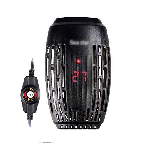 Mutmi Mini Calentador de Acuario, el Calentador de Acuario Sumergible Calentador con el Controlador Digital Externo, irrompible y Resistente a la ignición,25W,112x64x27MM