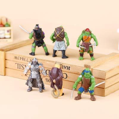CYSJ 6 PCS Ninja Cake Topper Mini Figurine Mini Giocattoli per Bambini e Baby Shower Forniture per la Decorazione della Torta della Festa di Compleanno