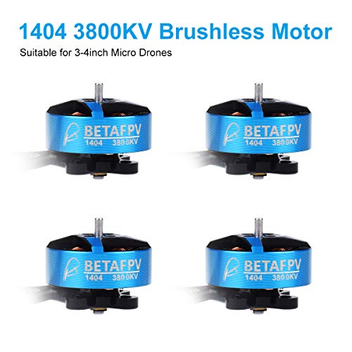 BETAFPV 4pcs 1404 3800KV Brushless Motor 4S FPV RC Motor for F4 AIO 20A Toothpick FC 4S Brushless 3-4Inch FPV Micro Quadcopter Racing Toothpich Drone
