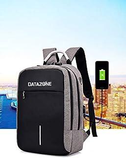 حقيبة ظهر مضادة للسرقة من داتا زون لطلاب الجامعات، وطلاب المدارس، حقيبة ظهر للرحلات القصيرة، لون رمادي، DZ-BP2060