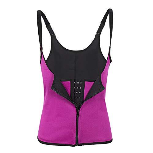 qiguilian Neoprene Sauna Sweat Vest Waist Trainer Cincher Women Body Slimming Trimmer Corset,Rose Red,L