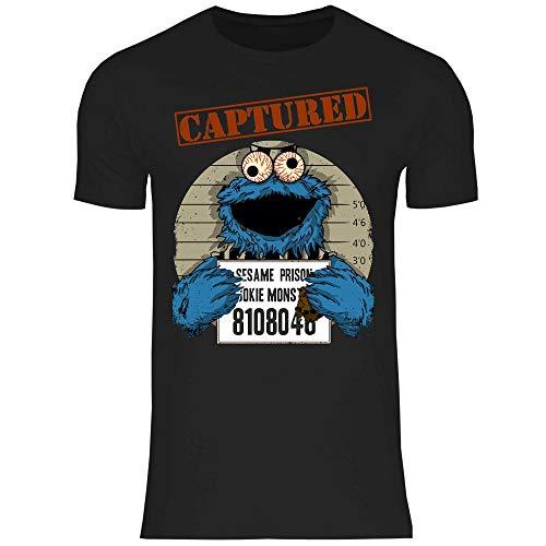 wowshirt Camiseta Halloween Cookie Wanted Terror del Monstruo de la Galleta para Hombre, Tamaño:M, Color:Black