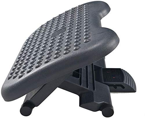 Reposapiés debajo del escritorio - Ajustable con el resto del pie Masaje de la textura y el rodillo, Reposapiés ergonómico Altura Posición, 15 grados de ajuste de inclinación angular for el hogar, ofi