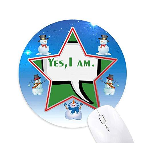 Bestimmung der Spracherkennung durch den Snowman Maus Pad Round Star Mat