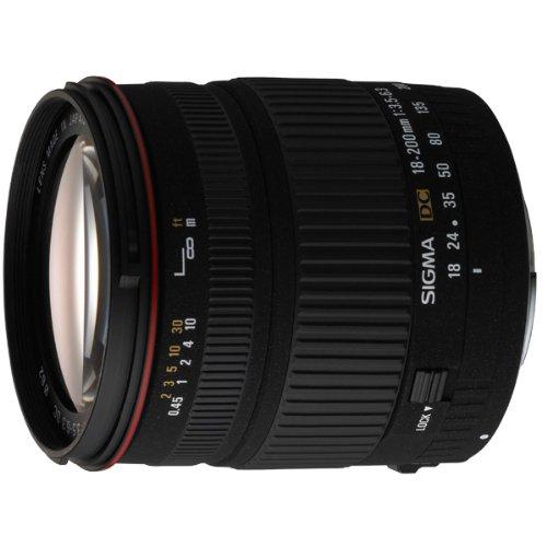 Sigma 18-200mm F3,5-6,3 DC Objektiv (62mm Filtergewinde) für Minolta / Sony