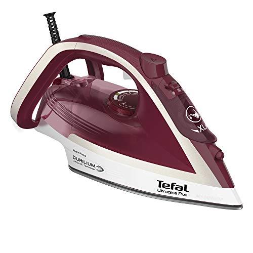 Tefal FV6810 Ultragliss Plus Dampfbügeleisen | 2800 Watt | Dampfstoß: 250 g/Min. | Dauerdampfmenge: 50 g/Min. | Eco Mode | kratzfeste Bügelsohle | Rot/Weiß