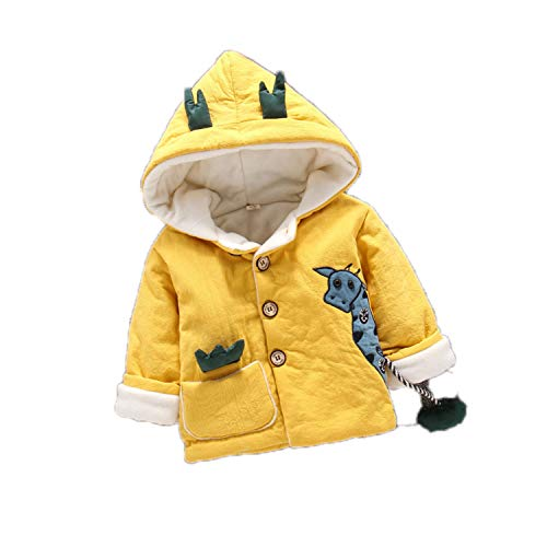 Guy Eugendssg Infant Coat Autumn Winter Baby Jackets for Baby Boys Jacket Kids Warm Outerwear Coats Yellow3 6M