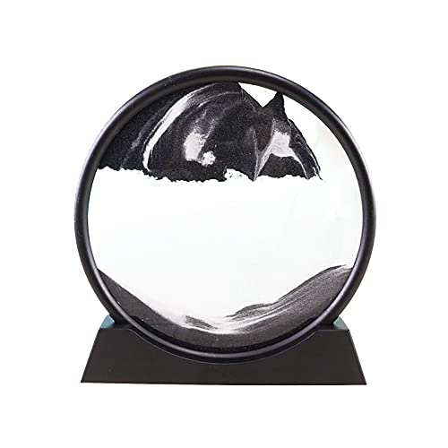 12inch Hourglass 3D Natural Landscape Flowing Sand Picture Moving Grit Hourglass Dynamic Picture Art Moving Sand Picture Flowing Grit , Fit Bedrooms, Offices and Study Rooms etc