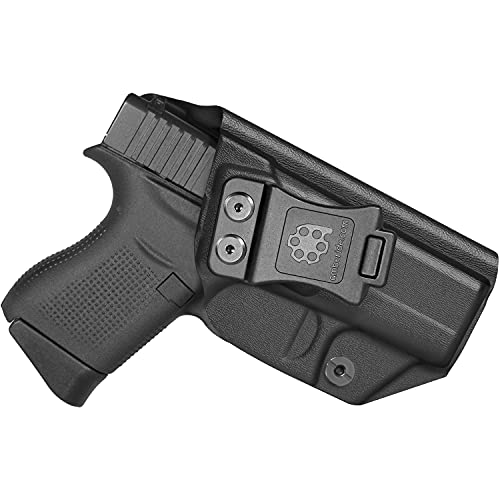 Amberide IWB KYDEX Holster Fit: Glock 43/43X Pistol | Inside Waistband | Adjustable Cant | US KYDEX Made (Black, Left Hand Draw (IWB))