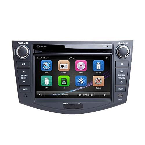 Car Stereo, ZLTOOPAI per Toyota RAV4 2006-2012 Unità a doppio Din Unità da 7 pollici capacitivo Multi-Touch GPS schermo con mappa gratuita Vista posteriore Fotocamera Strumenti di rimozione