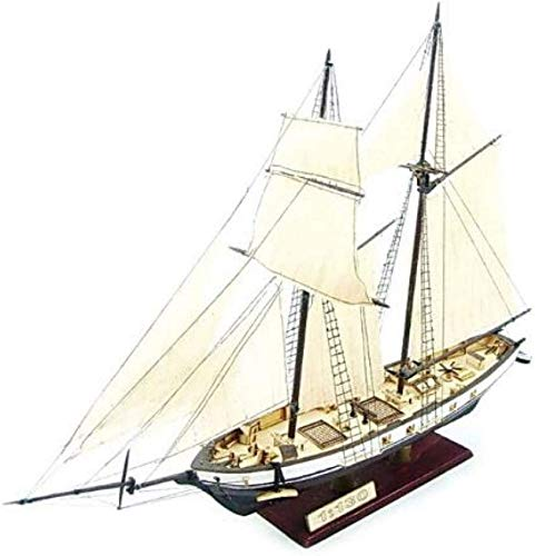 YLJYJ Modèle de bateau decoration de salon Chem voilier modèle 1: 130 voile bricolage bateau modèle en bois bateau méditerranéen océan bateau en bois pour cadeau pour la decor