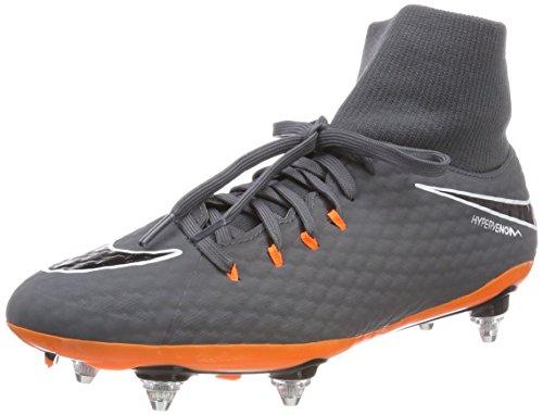 Nike Phantom 3 Academy DF SG, Scarpe da Calcio Uomo, Grigio (Dark Grigio/Total Arancione/Bianco 081), 41 EU