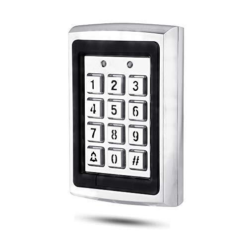 T6-Touch Codeschloss Türöffner 125KHz Zutrittskontrolle Sicherheits-Türzugriffskontrolle für Haus (Silber)
