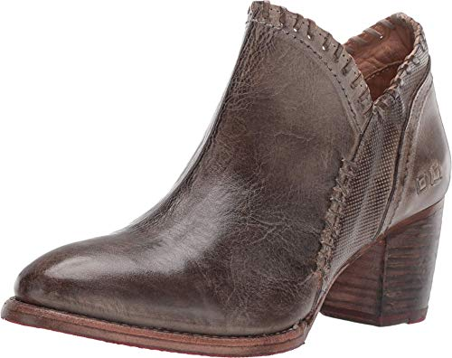 Bed|Stu Women's Carla Leather Bootie (9, Taupe Rustic)