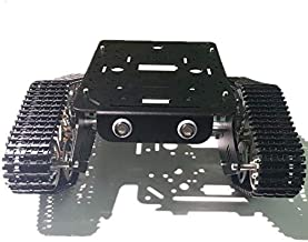 SZDoit Black T300 Robot Tracked Car for Arduino/Raspberry pi, Remote Control Metal Tank Chassis with Motor Track/Trail, DI...