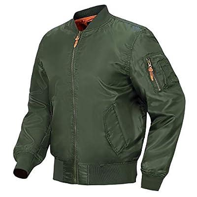 MANSDOUR Men's Lightweight Bomber Jacket Fa...