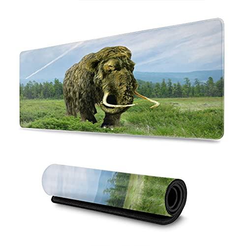 Mammoth Gaming Mouse Pad XL,Non Slip Rubber Base Large Extended Mousepad,Stitched Edges Desk Mat,31.5X11.8, for Work & Game