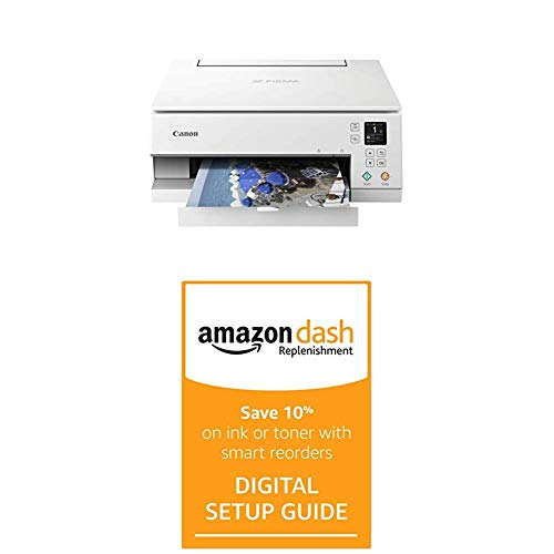 Read About Canon Pixma TS6320 WH, Amazon Dash Replenishment Enabled with Dash Replenishment Digital ...