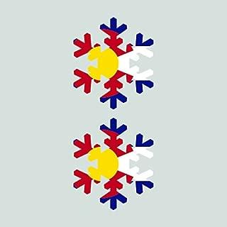 Two Pack Colorado Snowflake Sticker FA Graphix Vinyl Decal CO Snow Flake Snowboard Skiing skii