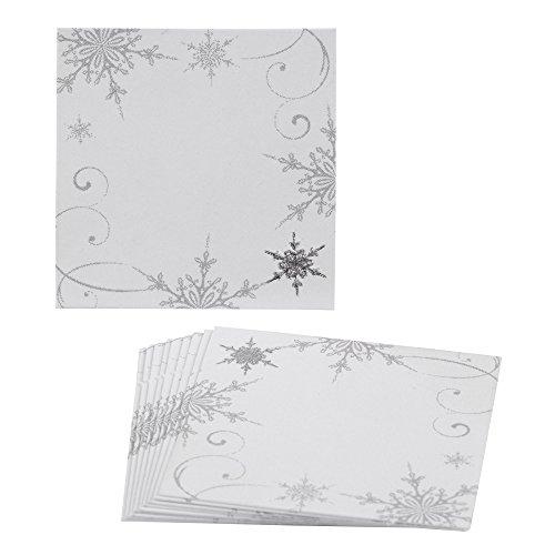 Tischkarten von Neviti, mit glitzernden Schneeflocken, Mehrfarbig, 10Stück