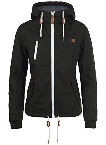 DESIRES Tilda Damen Übergangsjacke Jacke gefüttert mit Kapuze, Größe:L, Farbe:Black (9000)