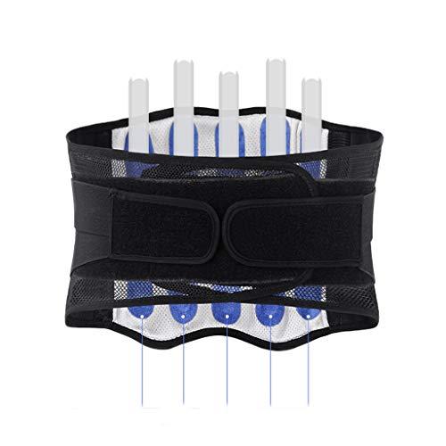 Rückenbandage - Rückengurt zur Stabilisierung der Lendenwirbel - Rückengürtel für Damen & Herren - Nierengurt & Bauchweggürtel zur Haltungskorrektur (Schwarz, XL)