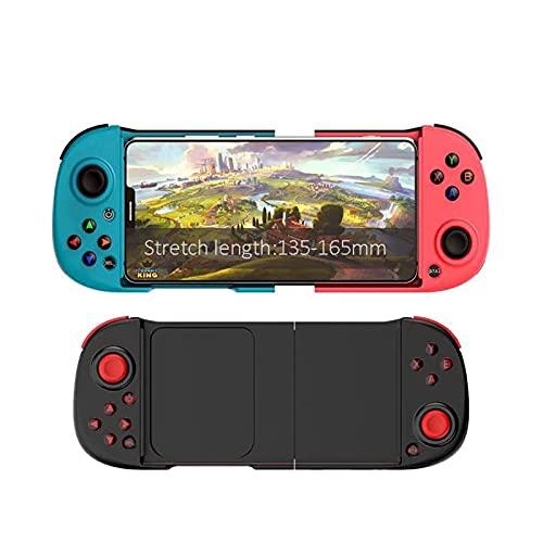 SPFSYF Gamepad inalámbrico Dispositivo Bluetooth Controller Mobile Joystick para teléfono Android Control de Consola de iPhone (Color : Black)
