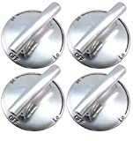 AP5668987 PS2375871 7733P410-60, Surface Burner Knobs Chrome Plated Plastic Ring with Nonslip Grip,...
