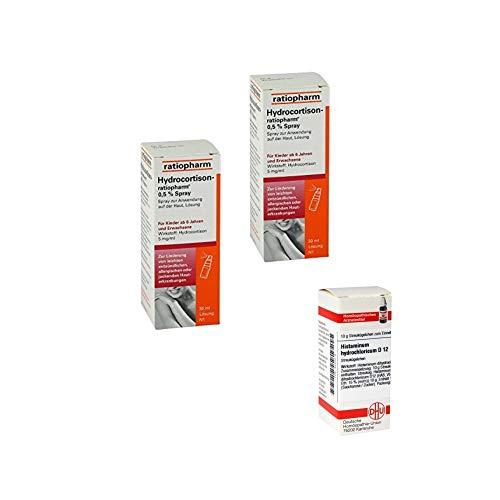 2x Hydrocortison 0,5% Spray (30ml) + gratis DHU Histaminum hydrochloricum D12 (10g)