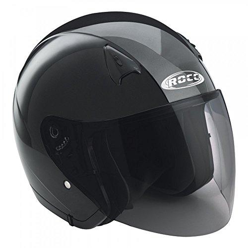 Büse Jet Helm ROCC 130 metallic schwarz, Größen:M - 57/58