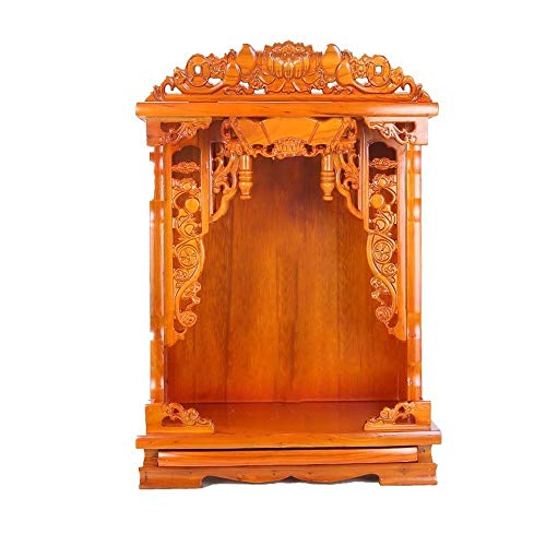 WANGLX Solid Wood Buddha Altar Cabinet Buddha Niche for Table Buddhist Supplies Rack/ Item Storage Cabinet, for Place Your Spiritual Decoration Meditation ( Size : Big :16.5×20.5in )